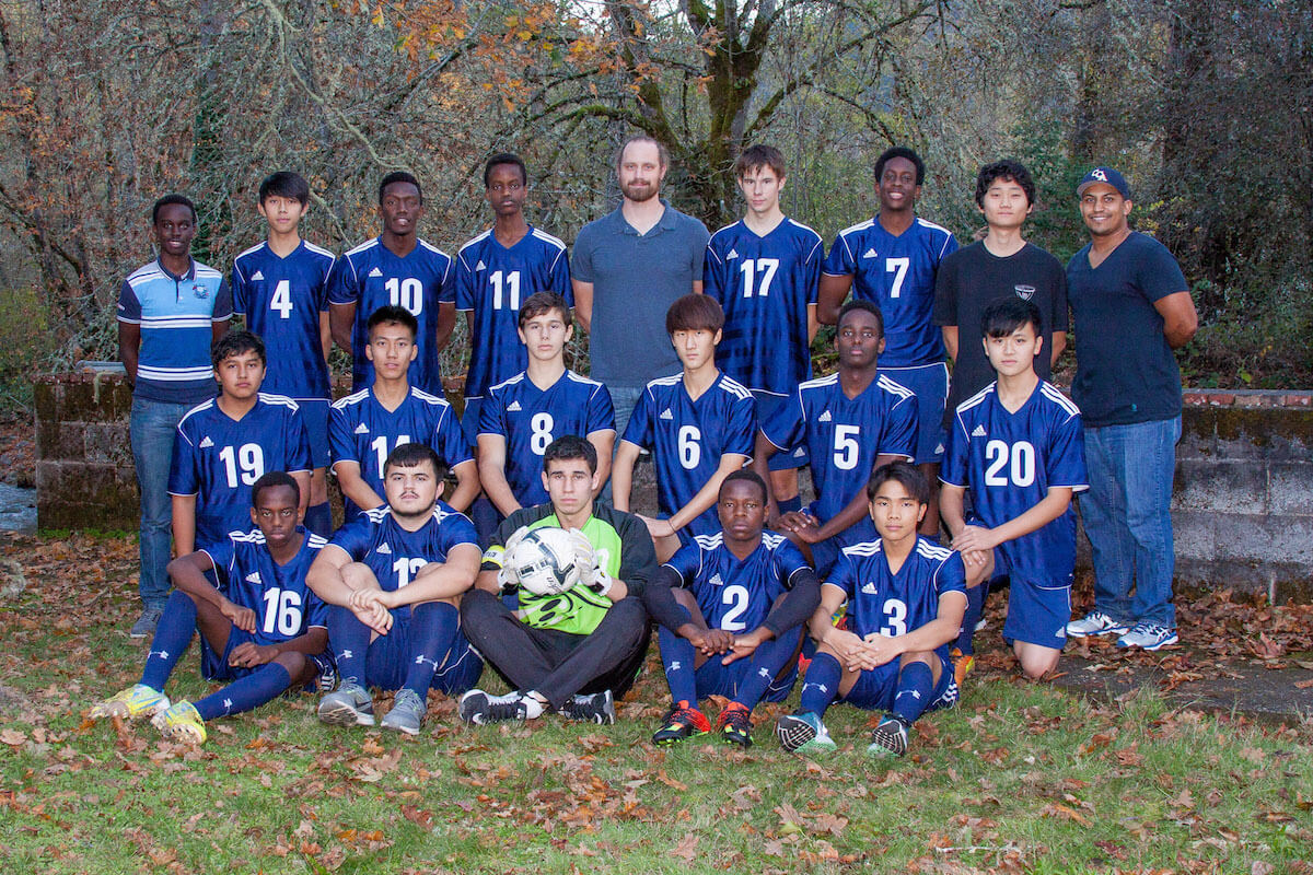 Canyonville Christian Academy, Boys Soccer, International Students, 2016, Boarding School