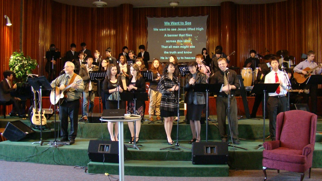 Canyonville Christian Academy raises up worship teams yearly lead by Jim & Cori Burkhert