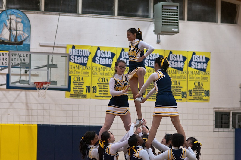 CCA Cheerleaders in the Oregonian