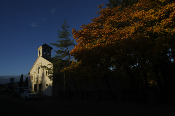 International Christian academy's chapel viewed on a warm fall afternoon, canyonville, oregon