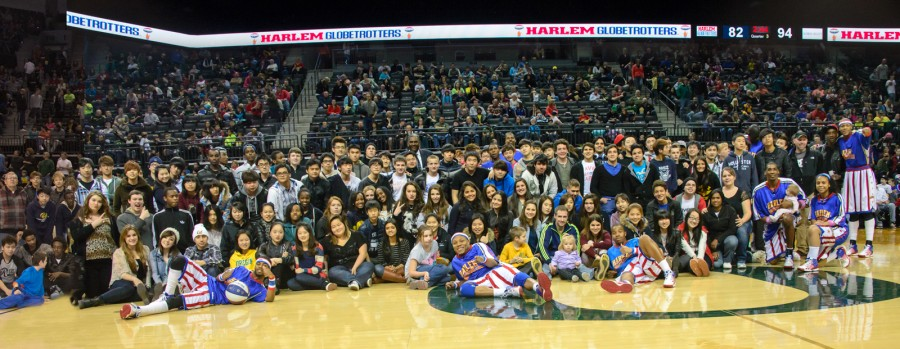 Canyonville Christian Academy and the Harlem Globetrotters