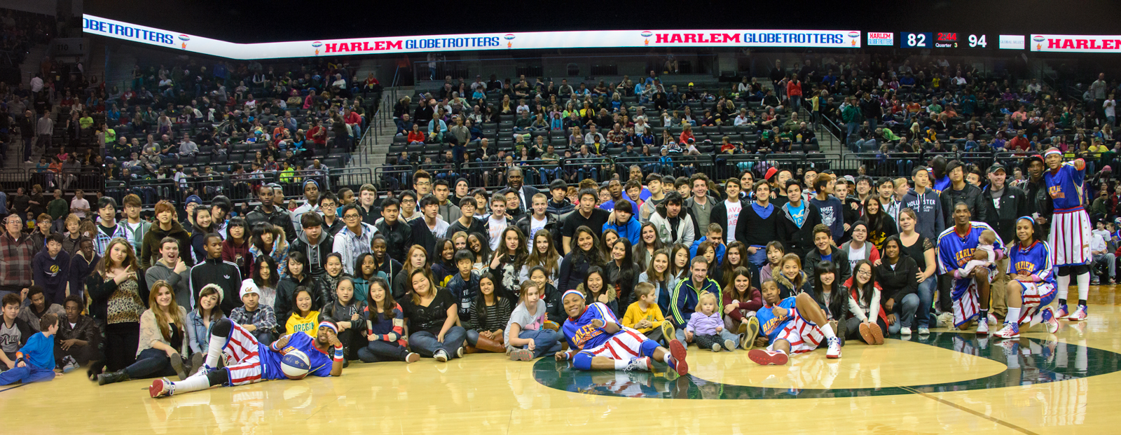 Boarding School Students Meet the Harlem Globetrotters