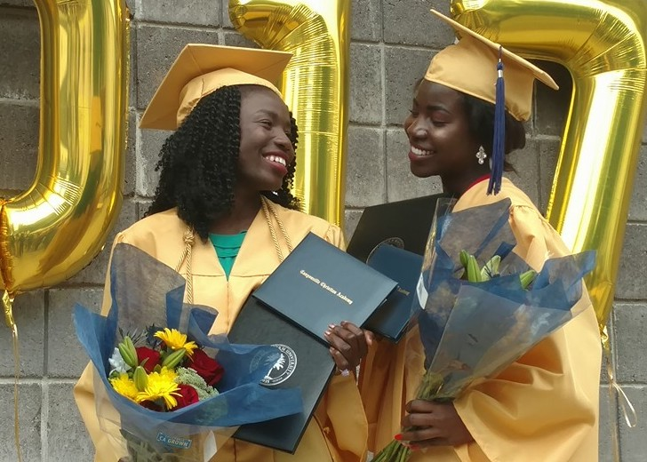 Canyonville Christian Academy students Joy Bishara and Lydia Pogu have graduated from christian boarding school, from terror to triumph, chibouk bok girls succeed and finish their educations