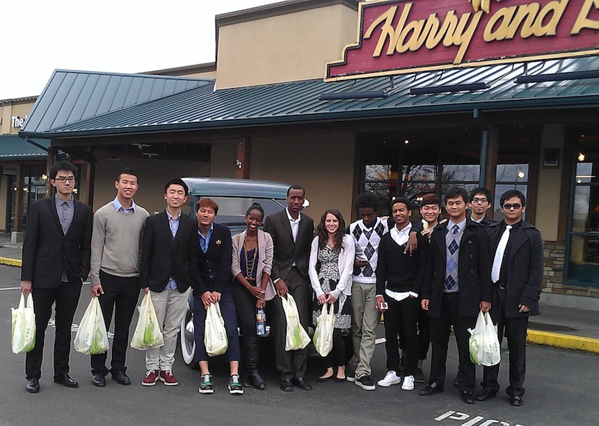 Honors Business Math Class Goes On A Field Trip to Harry & David Store
