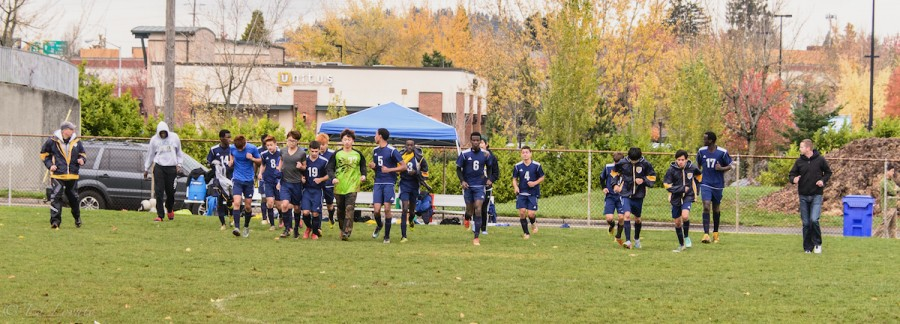 canyonville christian academy soccer team at districts in portland, oregon