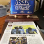 The OSAA State Championship trophy for sportsmanship!