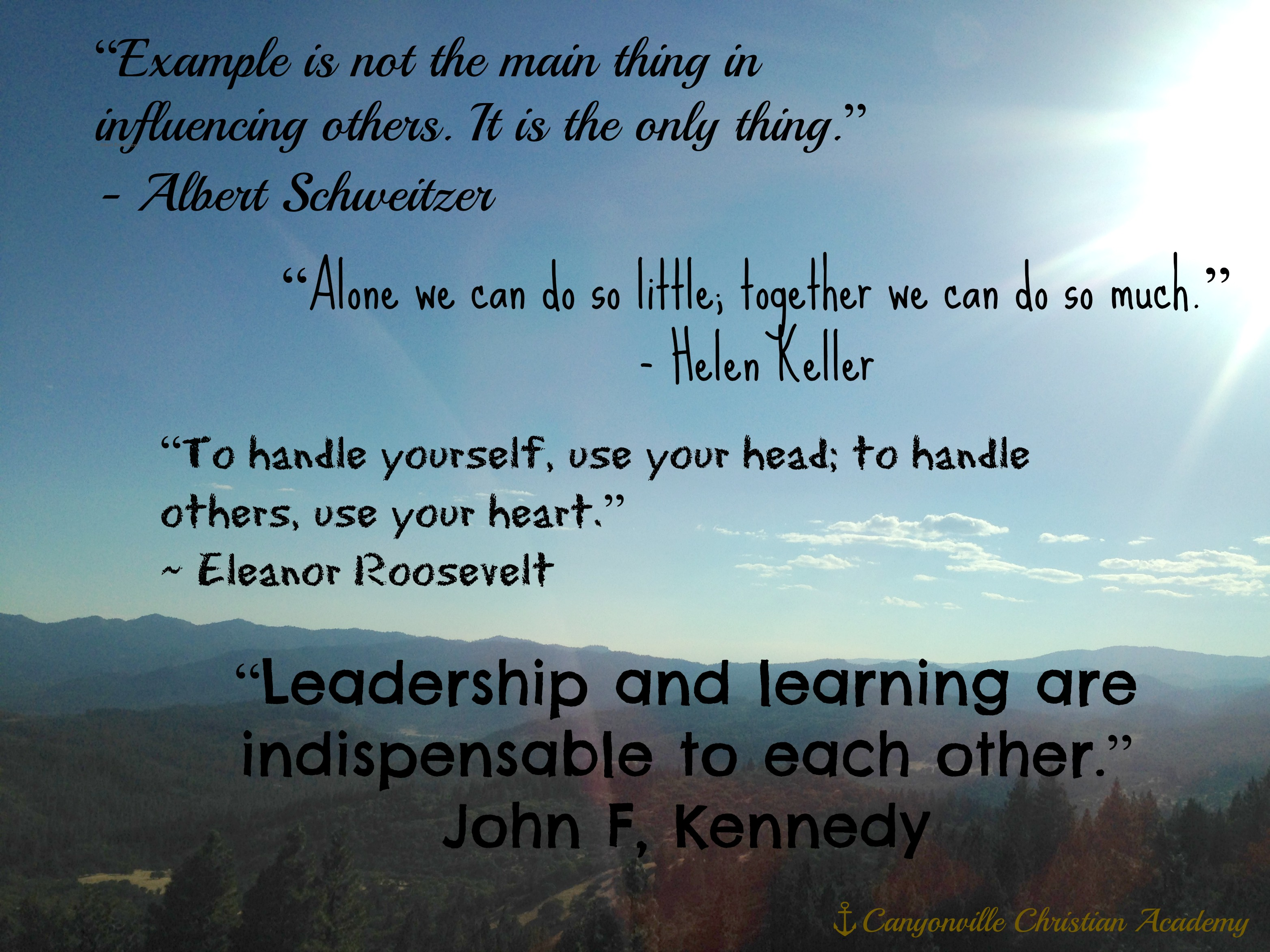 Leaders Quotes Boarding School Inspirational Leadership Quotes  Canyonville