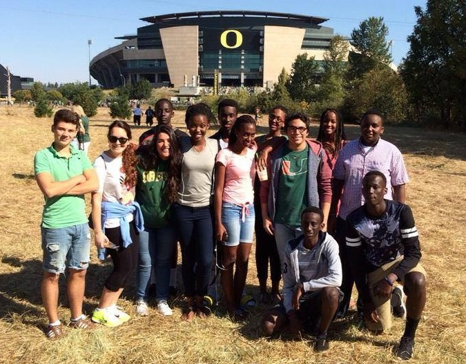 International Students Attend University of Oregon Football Game