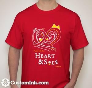 Private school, Senior class, Private school, Senior class, fundraiser, valentine's day heart and sole fun run, fundraiser, tshirt design