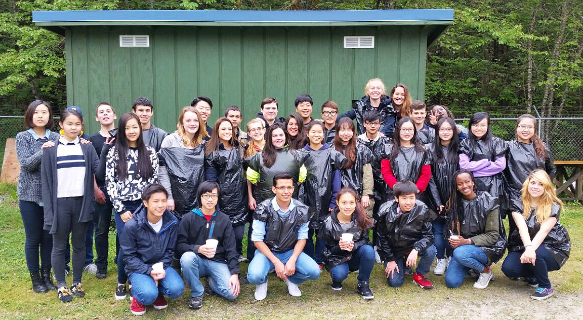 Boarding School, international students, environmentally conscious, fish hatchery, Oregon