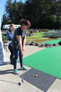 Miniature golf fun at the Oregon coast