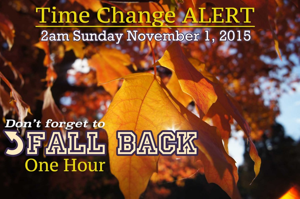 Canyonville Christian Academy, time change reminder