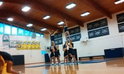 Christian boarding school, homecoming highlights, pep rally, basketball, cheerleaders