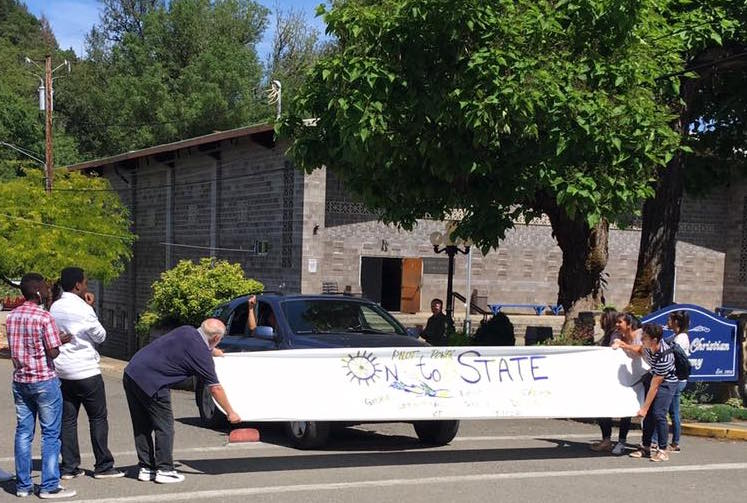 Heading to Hayward Field for the state track meet