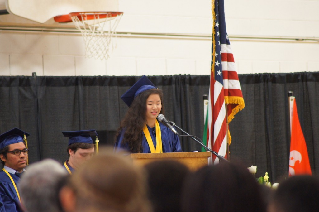 graduation ceremony, grace tuan, valedictorian, christian boarding school