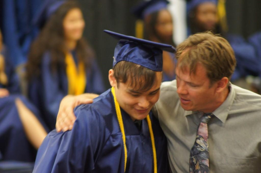christian boarding school, senior with dad