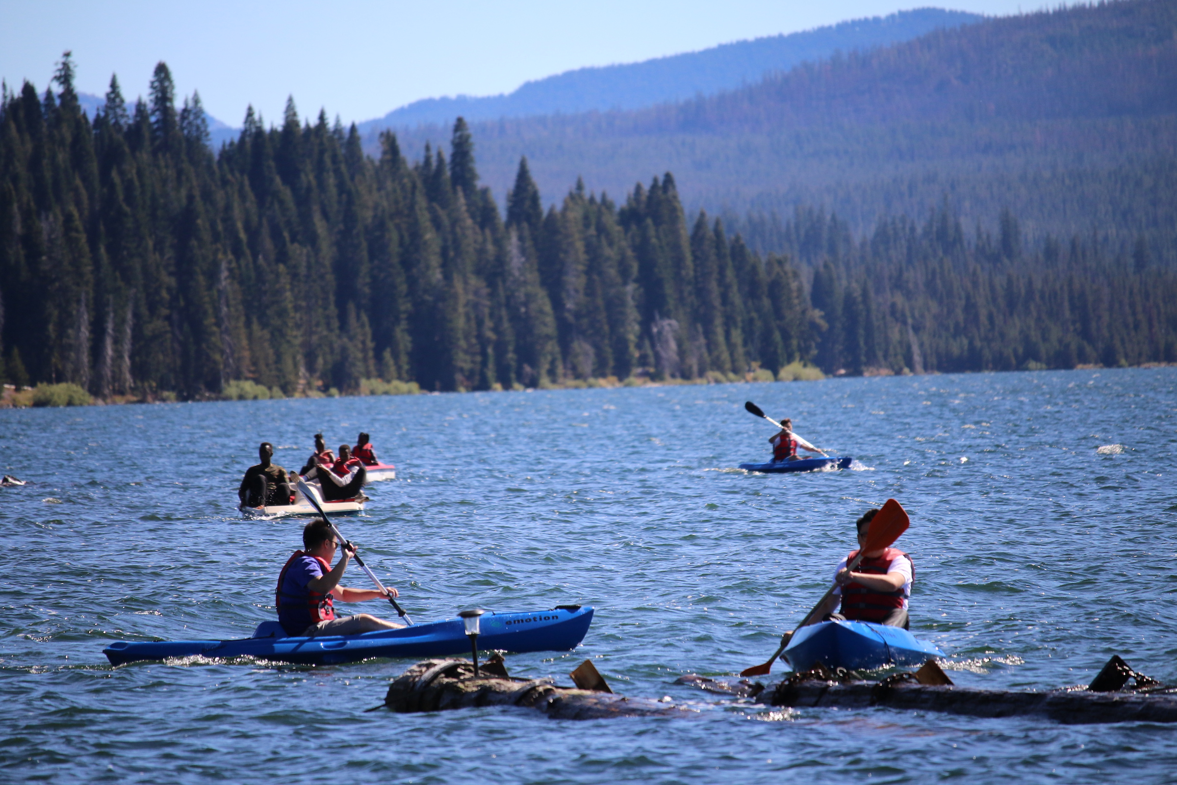 diamond lake trip, christian boarding school students, enjoying a day to play