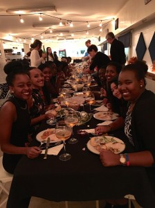 Rwandan girls at Canyonville christian academy's annual Thanksgiving dinner