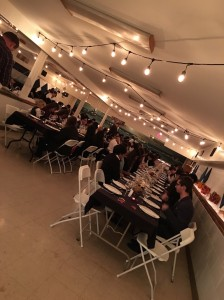 christian boarding school cafeteria, gets redecorated for the annual Thanksgiving meal