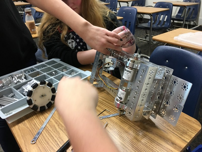 Canyonville Christian Academy, robotics team, South Umpqua High school, teamwork