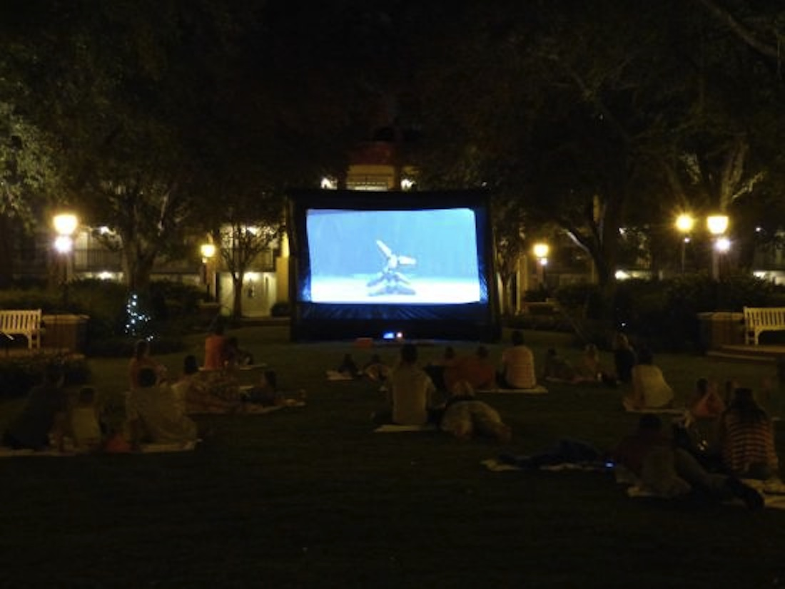 Christian High School host outdoor movie