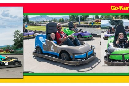Christian Boarding School goes to family Fun Center to ride Go Karts
