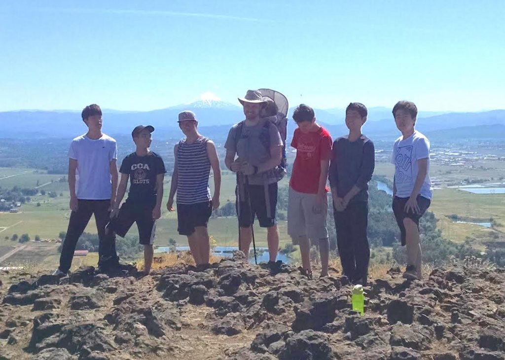 christian boarding school, hiking group, hike up to Table Rock