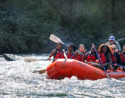 Boarding School Students experience the Pacific Northwest - white water rafting