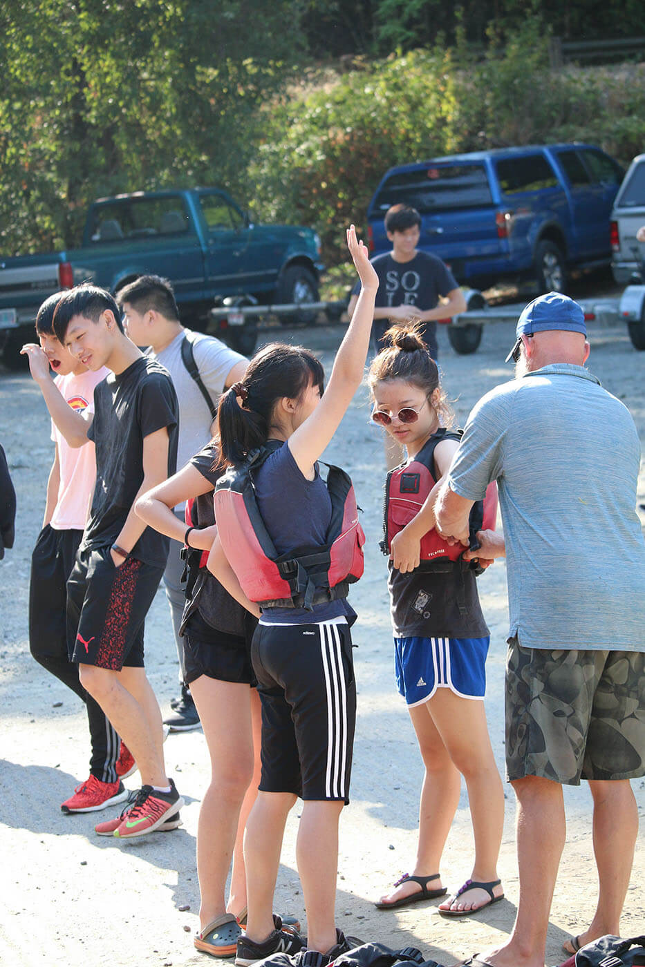 Boarding School's international students go rafting