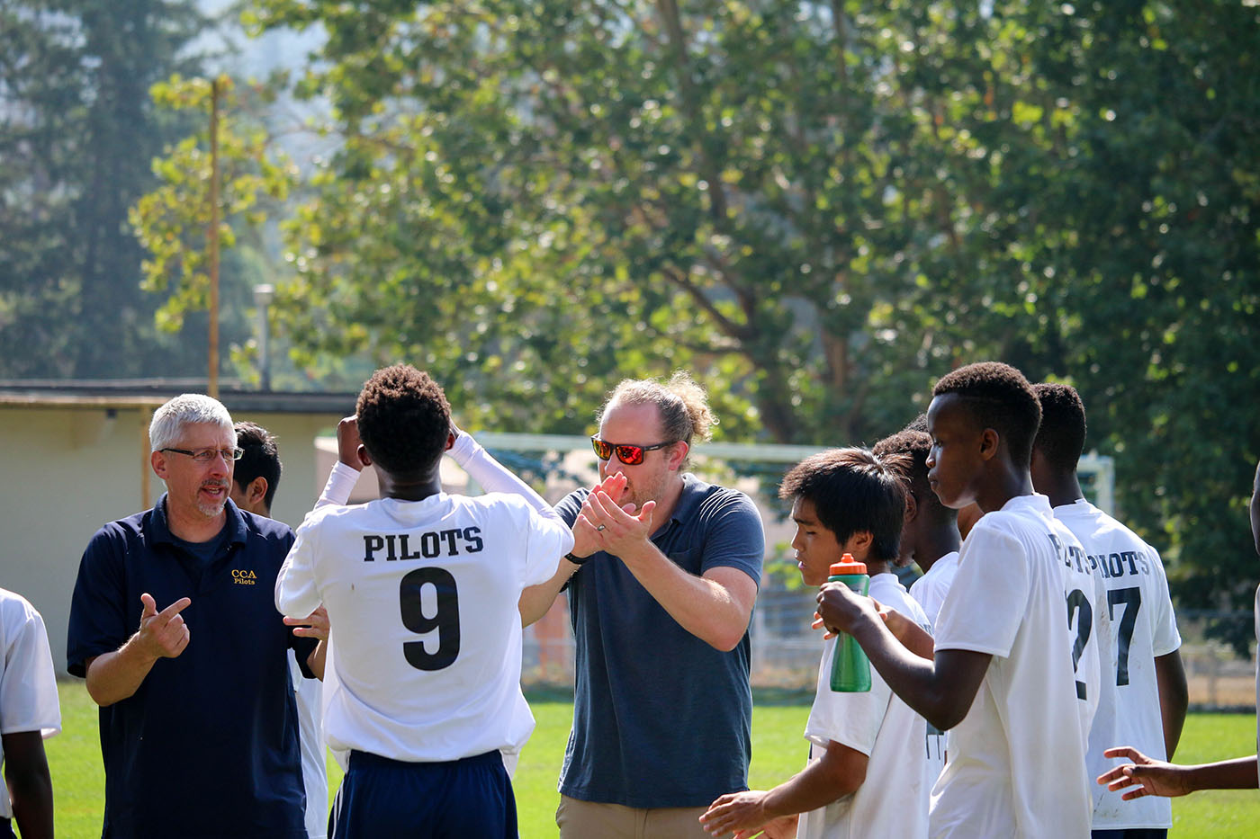 Athletic Director Lance Nutter, and Boys Soccer coach Ian Garrett, at Top Christian Academy, CCA in Canyonville Oregon