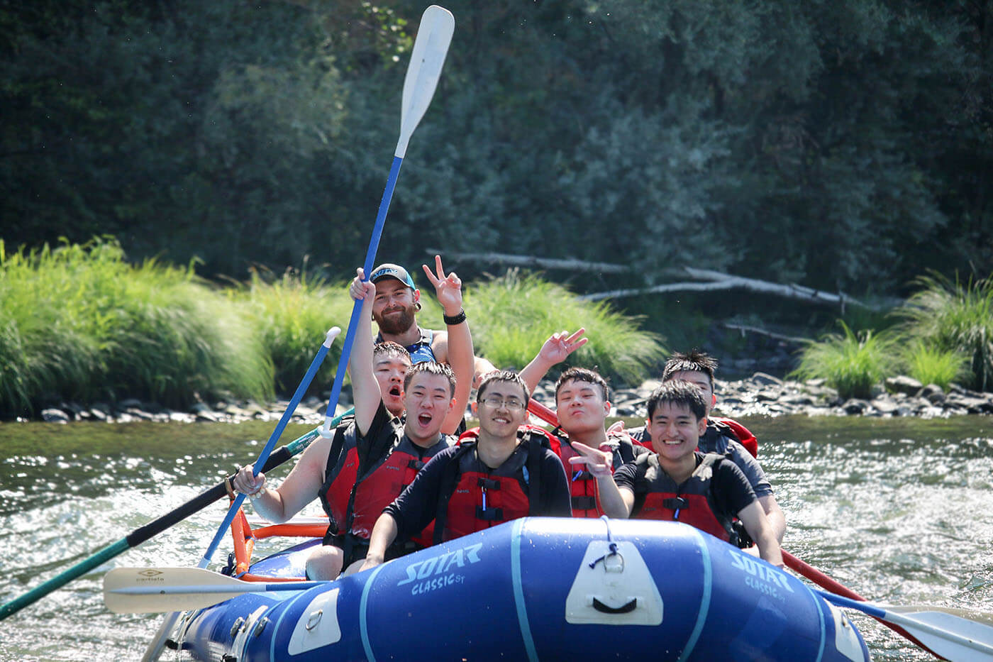 Christian Academy goes white water rafting