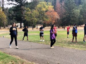 Egg race relay was held at Canyonville Academy's Fun Day event