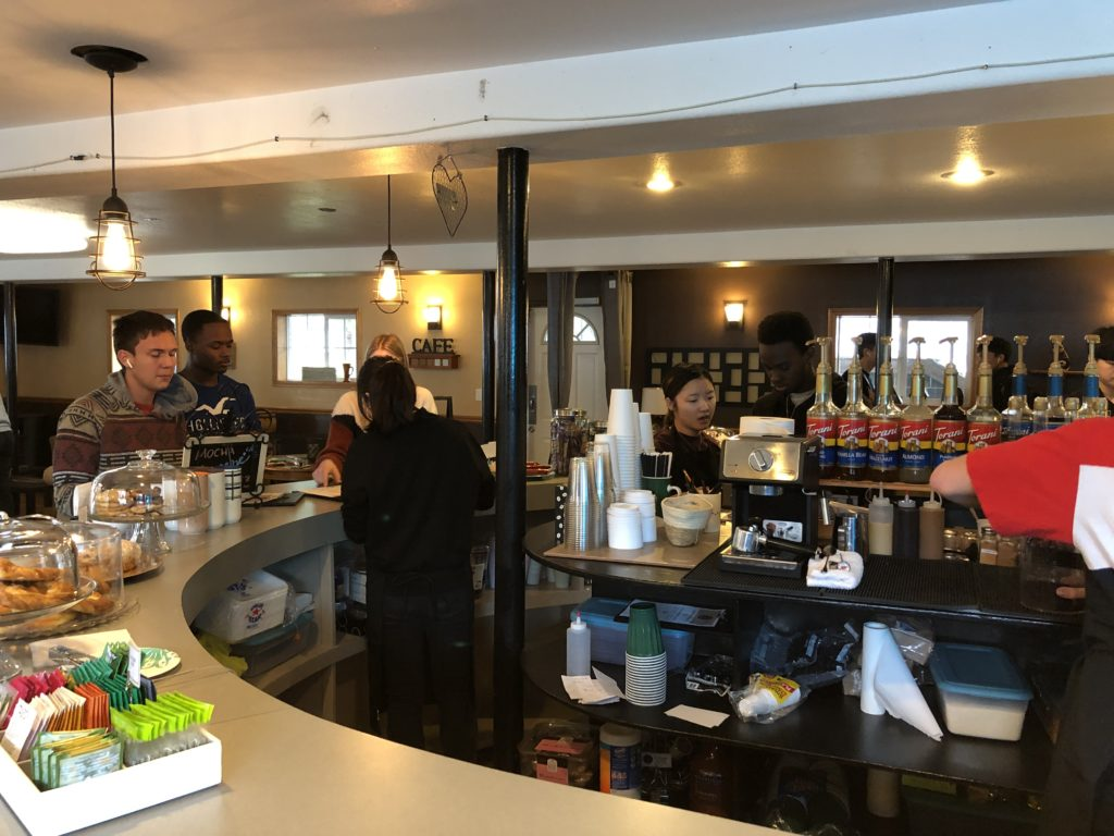 College Preparatory Boarding School, Canyonville Academy, in Southern Oregon, recreated their student center, to become a coffee shop