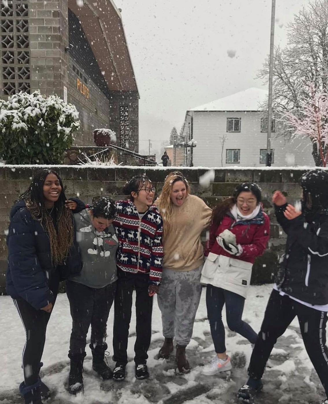 Even without power during the snowstorm, the students had fun!