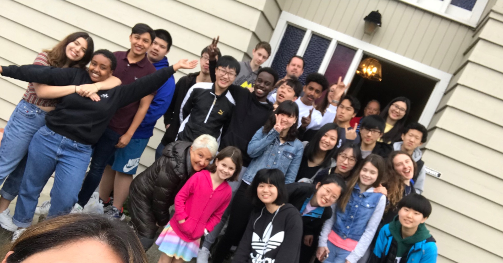 Students at Canyonville Academy finish their work in San Francisco California.