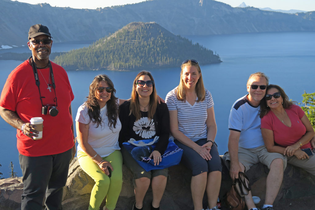 Crater Lake, visit in July, with Greeneway Church volunteers, in southern Oregon